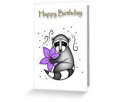 Birthday Raccoon Greeting Card