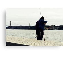 Occasional couple of fishers Canvas Print
