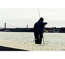 Occasional couple of fishers Photographic Print