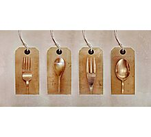 Forks & Spoons Photographic Print