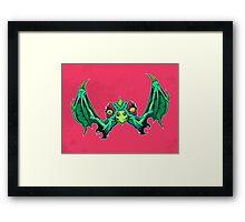 W is for Winged Wart Beak Framed Print