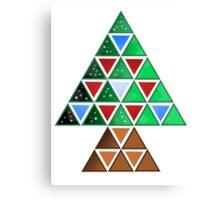 Triangle Tree Canvas Print