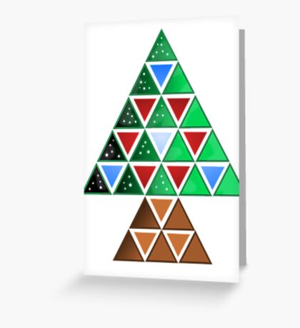 Triangle Tree Greeting Card