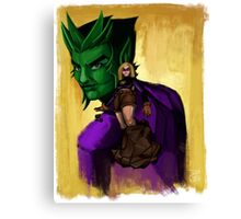 Evil Terra-forming With Beast boy Canvas Print