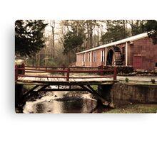 Waterwheel and Bridge 1 Canvas Print