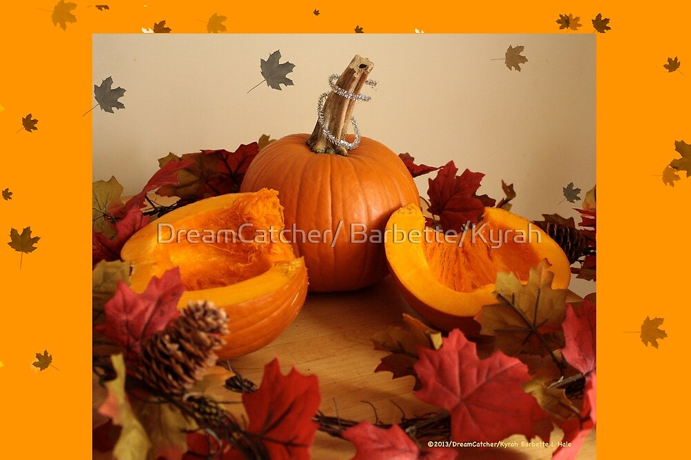 Pumpkin and leaves  by DreamCatcher/ Kyrah