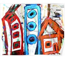 abstract city Poster