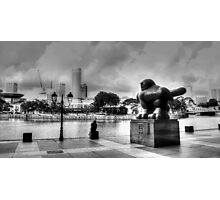 Urban Landscape Singapore BW Photographic Print