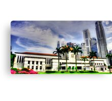 Urban Landscape Singapore, Parliament House Canvas Print