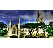 Urban Landscape Singapore, St. Andrews Catheral Photographic Print