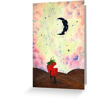 Mister Strawberry Cries at the Moon Greeting Card