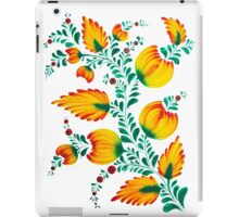 Floral unique painting in warm colors iPad Case/Skin