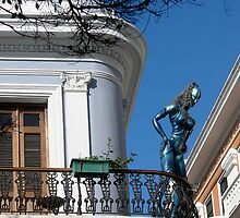 Lady on Balcony by cclaude