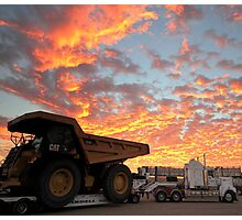 Dumptruck Sunrise Photographic Print