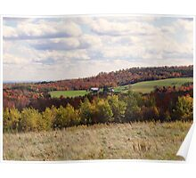Farmland in Fall Poster