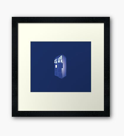 Abstract Dr Who TARDIS  Framed Print