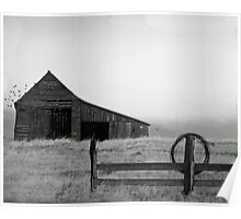 The Old Barn B/W Poster