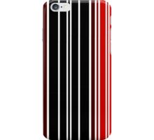 red and black lines iPhone Case/Skin