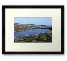 Sailing On Damflask Reservoir Framed Print