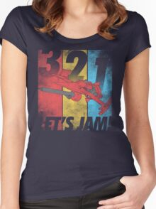 Let's Jam! Women's Fitted Scoop T-Shirt