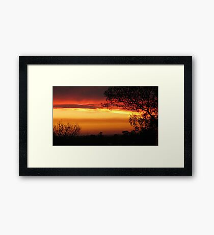 Stunning & Vivid Sunset Framed Print