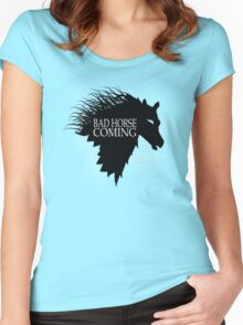 Bad Horse is Coming Women's Fitted Scoop T-Shirt