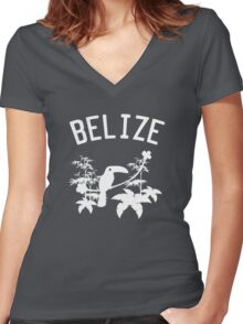 Belize Birds and Rainforest Women's Fitted V-Neck T-Shirt