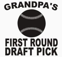 Grandpa's First Round Draft Pick Baseball One Piece - Short Sleeve