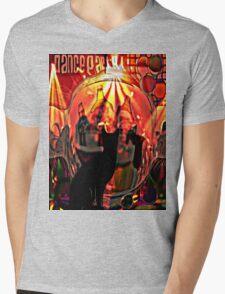 the black cat dance party Mens V-Neck T-Shirt
