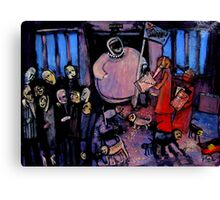 in the court of the billionaire heiress Canvas Print