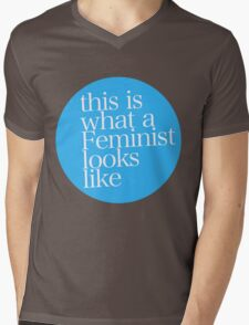 This is what a Feminist looks like BLUE Mens V-Neck T-Shirt