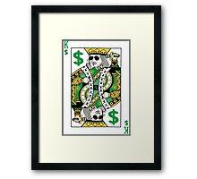 King Swag Money Framed Print