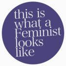 This is what a Feminist looks like PURPLE by ShayleeActually