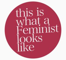 this is what a Feminist looks like RED by ShayleeActually