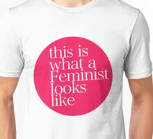 this is what a Feminist looks like RED Unisex T-Shirt