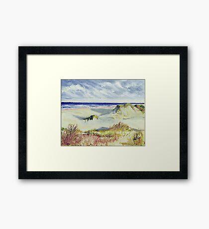 Sketching the Dunes Framed Print