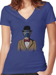 Doctor Magritte Women's Fitted V-Neck T-Shirt