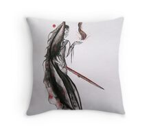Flame of Blood and Ash Throw Pillow