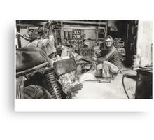 Joe - Vespa Repairs and Restorations Canvas Print