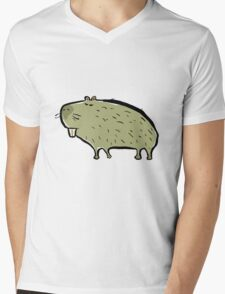 capybara Mens V-Neck T-Shirt