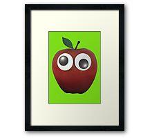 Googly-Eyed Apple Framed Print