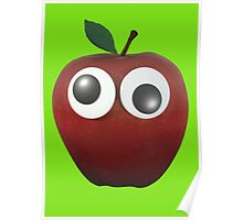Googly-Eyed Apple Poster