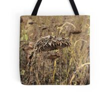 Dried Sunflower Tote Bag
