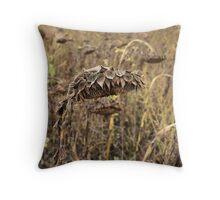Dried Sunflower Throw Pillow
