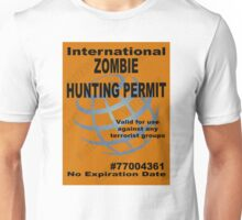 Zombie Hunting Permit #2 Unisex T-Shirt
