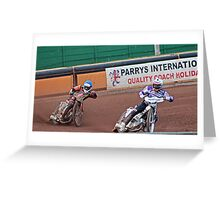 Wolves v Swindon speedway Greeting Card