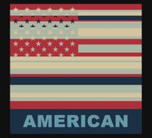 American Flag Pop Art by Nhan Ngo