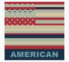 American Flag Pop Art Kids Tee