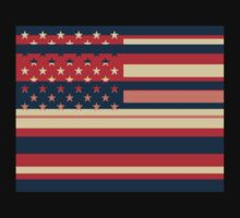 American Flag Pop Art 3 by Nhan Ngo