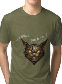 Cheshire Cat:Alice Madness Returns Tri-blend T-Shirt